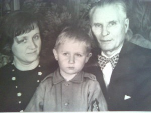 My grandfather, my mother and I