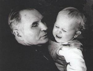 Damian V. Popov with his grandson