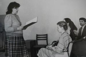 Н.К. Сімеонова на заняттях з курсантами