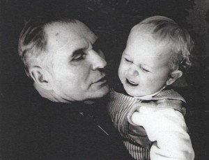 Damian V. Popov with his grandson